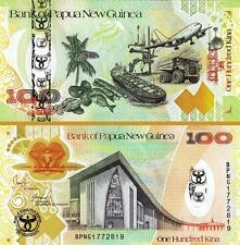 PAPUA NEW GUINEA 100 KINA 2008 UNC HYBRID COMMEMORATIVE.35'th ANNIVERSARY P 37