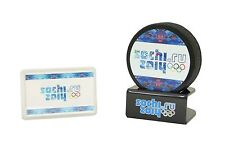 Olympics SOCHI 2014 hockey puck with gift holder New