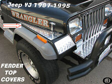 JEEP YJ DIAMOND PLATE FULL TOP FENDER COVERS