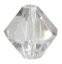 10 SWAROVSKI CRYSTAL 3 MM BICONE BEADS 5328, CRYSTAL CLEAR