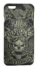 Harley-Davidson Men's iPhone 6 Shell, Tattoo Skull Print Graphic TPU Case 07722