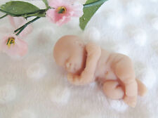 One 2 inch Naked Polymer Clay Sleeping Baby for Cake Topper or Crafts C2