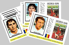 ROMANIA - 1970 WORLD CUP  SERIES 1 - COLLECTORS POSTCARD SET