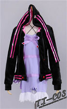 Vocaloid3 Yuzuki Yukari Purple Dress Cosplay Costume full set outfit Free Ship