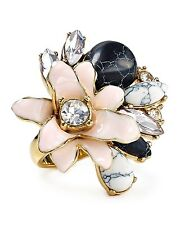 Kate Spade 'Glossy Petals' Cocktail Ring sz 7