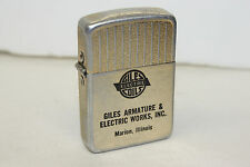Vintage Advertising Lighter - Giles Armature & Electric Works - Marion Illinois