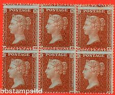 "SG. 24. C3 (1). "" QA QB QC RA RB RC "". 1d red brown ( Die II ). Plate 6."