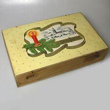 Seltene Stollwerck Weihnachtsdose Holzdose Dose ca. 31 x 22 x 7 cm