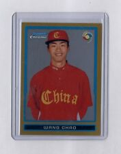 2009 Bowman Chrome Gold Refractor Refractor Wang Chao Wang Rookie Rc #7/50