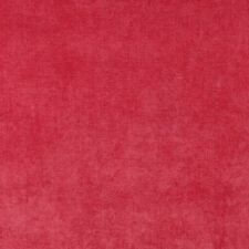 D237 Pink, Solid Durable Woven Velvet Upholstery Fabric By The Yard
