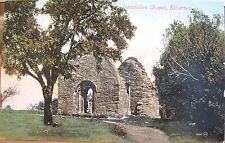 Irish Postcard INNISFALLEN CHAPEL Isle in Lakes of Killarney Ireland Valentine