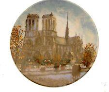 Limoges La Cathedrale Notre Dame La Ville De Paris Par Louis Dali Plate JR24