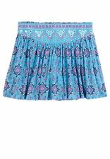 NWT Girls Size 10 JUSTICE Layla Embellished Scooter Skirt with Shorts Blue Hobo