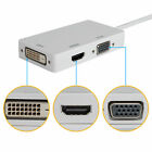 3 In 1 Thunderbolt Mini Display Port  DP To HDMI VGA DVI Adapter Cable For Apple