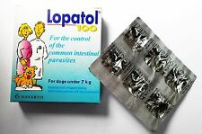 Swiss NOVARTIS LOPATOL Oral Wormer Tablet Roundworm Tapeworm Worms for Dogs