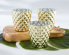 20 Pineapple Gold Votive Candle Holders Tropical Party Decorations Favors Q36402