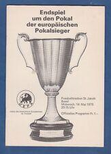Orig.PRG   EC 2   1974/75  FINALE   DYNAMO KIEW - FERENCVAROS BUDAPEST ! RARITÄT