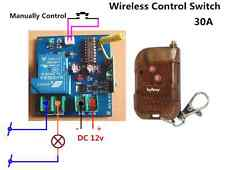 30A High Power DC12v Wireless Relay Control Switch+Remote off/on manual function
