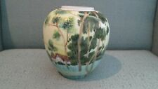 "Vintage Hand Painted Noritake 4.5"" Vase Made in Japan Country Scene Porcelain"