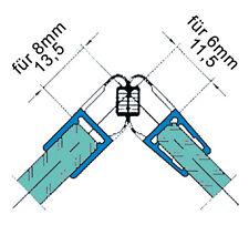Duschdichtungen für Duschabtrennung Trägerprofile  2000mm