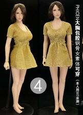 """Yellow 1:6 Figure Female Clothing Dress For 12"""" Phicen Women Seamless Body Doll"""