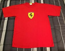 Vintage 90s 1996 Ferrari Racing Crest Logo Red Hip Hop Shirt - Men's L Large
