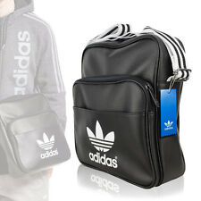 Adidas Originals Vintage-Look Unisex Sir Bag Shoulder Strap Messenger Black/W