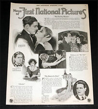 1925 OLD MAGAZINE PRINT AD, FIRST NATIONAL PICTURES, RONALD COLMAN & MARY AKIN!