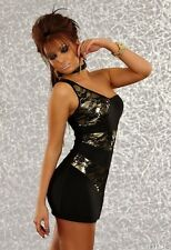 455 SEXY CLUBBING PARTY ONE SHOULDER STRETCH BODYCON MINI DRESS SIZE S/M & M/L