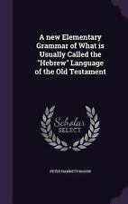 A New Elementary Grammar of What Is Usually Called the Hebrew Language of the...