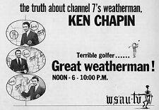 1973 WSAU TV AD~KEN CHAPIN~GREAT WEATHERMAN-terrible golfer~WAUSAU,WISCONSIN