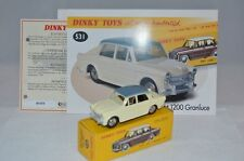 Dinky Toys Atlas 531 Fiat 1200 mint in box with leaflat & certificate Fac, ERROR