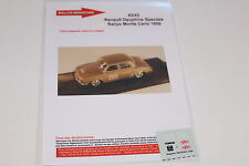 DECALS 1/43 RENAULT DAUPHINE N°265 RALLYE MONTE CARLO 1959 RALLY WRC