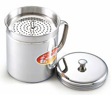 Stainless Steel Oil Storage Frying Oil Reuse Tank Can Keeper Filter Kitchen Cook