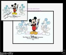 Genius at Work Mickey Mouse Disney MGM Studio hand Painted Cel BRAND NEW Frame