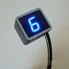 Blue LED Universal Digital Gear Indicator Motorcycle Display Shift Lever Senso