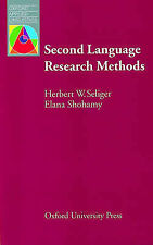Second Language Research Methods by Elana Shohamy, Herbert W. Seliger...