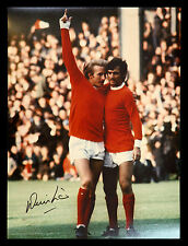 New Denis Law Signed Manchester United 12x16 Football Photograph : A