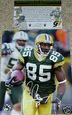 GREEN BAY PACKERS Greg Jennings AUTOGRAPHED NY JETS TD 8x10 PHOTO COA GJ HOLO