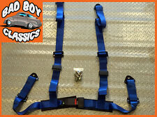 Universal Sports 4 Point Racing Seat Belt Harness BLUE