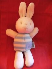 """9"""" marks & spencer striped with love bunny rabbit soft toy / baby comforter"""