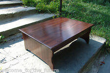 """Handcrafted Heavy Duty Wood Bedside Bed Step Stool 18"""" extra deep, 24"""" L, 8.5"""" H"""