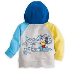 "DISNEY STORE MICKEY MOUSE ""BEACH BABY"" HOODIE FOR BABY 12/18 MOS BACK DESIGN NWT"
