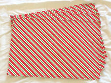 Christmas Holiday Red Green White Diagonal Stripe Set of 4 Placemats