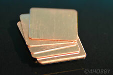 6 Kupferplättchen 20x20x0,3mm Kupferpad Wärmeleiter CPU Wärmeleitplättchen Pad
