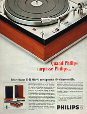 PUBLICITE ADVERTISING 055  1967  PHILIPS  chiane hi-fi stéréo