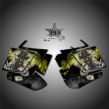2010 - 2015 POLARIS PRO RMK - RUSH Decal Side Panel Graphics Kit Outlaw Yellow