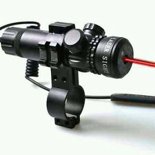 Original New Red Dot Laser Sight Adjust Rifle Scope 2 Switch Rail Mount Sights