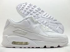 NIKE AIR MAX 90 LEATHER RUNNING TRAINER WHITE/WHITE SIZE MEN'S 13 [302519-113]