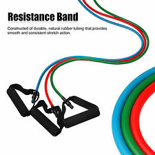 Latex Yoga Strap Resistance Bands Exercise Home Gym Tube Fitness Elastic